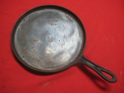 "Antique Cast Iron 9"" Round Griddle ~ ""9"" & ""L"" Markings ~  No Brand Name"