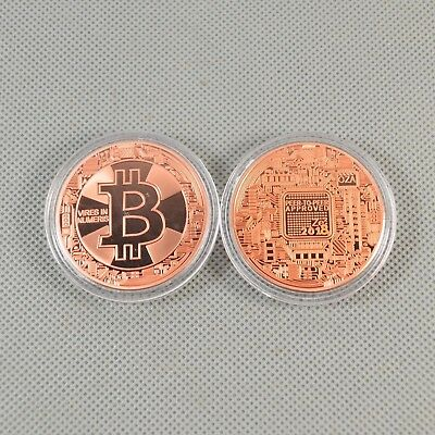 Copper Bitcoin Commemorative Round Collectors Coin Bitcoin is Copper Plated Coin