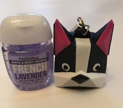 NEW BOSTON TERRIER CLIP PocketBac hand sanitizer Holder WITH HAND SANITIZER