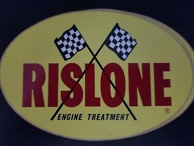 Vintage Rislone Engine Treatment Sticker New Yellow