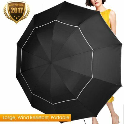 Fit-in Bag Golf Umbrella Compact & Lightweight, 63inch Rain/Wind Resistant Doubl