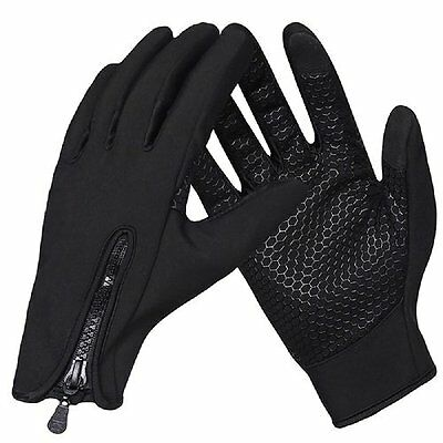 Waterproof Winter Cycling Gloves Bike Bicycle Full Finger Gloves Touch Screen