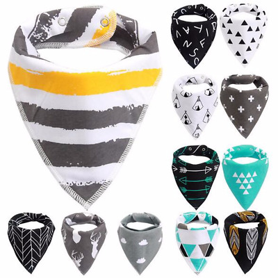 Baby Kids Cotton Bandana Bibs Feeding Saliva Towel Dribble Triangle Set