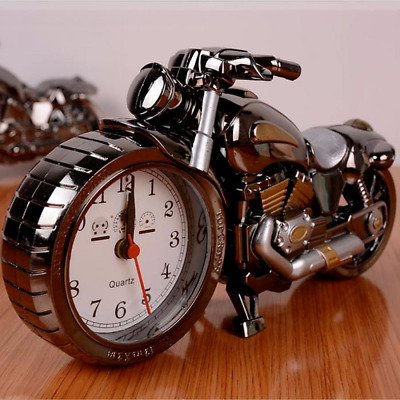Creative Motorcycle Motorbike Pattern Alarm Clock Desk Clock Creative Home New