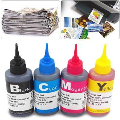 100ml Color Ink Cartridge Refill Replacement Kit for HP Canon Brother Printer DE