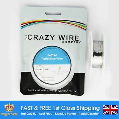 0.4 x 0.1mm Flat Ribbon Comp FeCrAl A1 (Kanthal A1 Equiv) Wire - 36.14 ohms/m