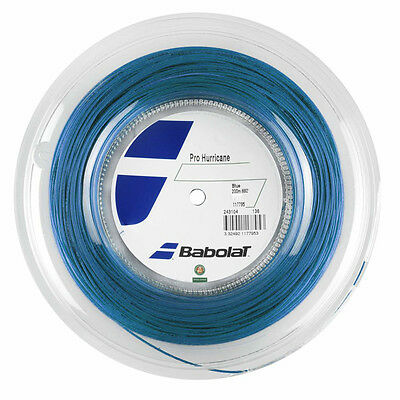 Babolat Pro Hurricane Blue 1.30mm/16G Tennis String 200m Reel - Free UK P&P