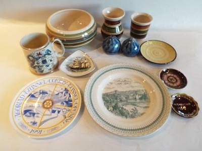 Welsh Pottery Collection Joblot A - Conwy Tunnel Plate & Dragon Pottery + More