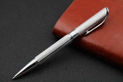 NEW OFFICE metal Wave pattern stainless steel gift silver Ballpoint Pen