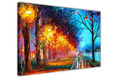 AT54378D Alley By The Lake By Leonid Afremov Canvas Pictures Painting Re-Print