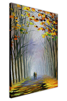 AT54378D Autumn Fog By Leonid Afremov Oil Painting Print Framed Canvas Pictures