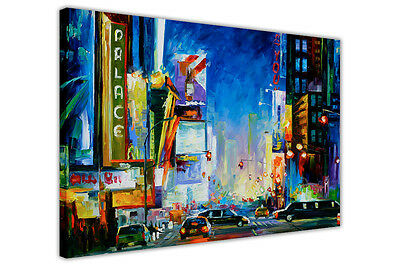 AT54378D Broadway By Leonid Afremov Canvas Art Picture Wall Print Painting Print