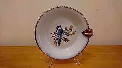 Lovely Porcelaine De Paris Limoges France Plate With Gilt Metal Leaf And Edges