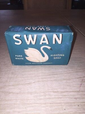 Vintage Lever Brothers SWAN Large Bar Soap Pure White Floating Soap 1940's