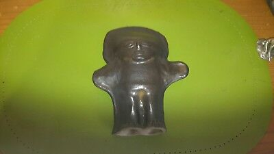 Antique Old Mexico Mexican Pre-Columbian clay Pottery Figurine