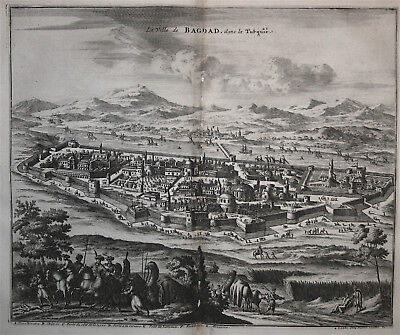 View of Baghdad - Iraq - Olearius 1727