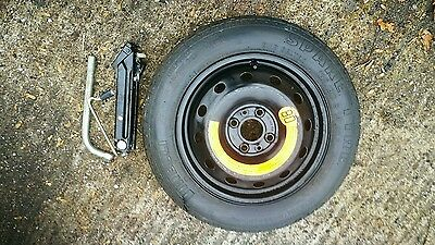 """Fiat Panda 2003-2018 Space Saver 14"""" Spare Wheel & Tyre, Jack And Spanner Kit"""