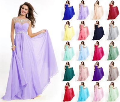 Long Formal Evening Prom Party Dress Bridesmaid Dresses Ball Gown Cocktail 6-20