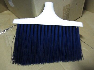 Broom Head, 2300B Upright, Heavy Duty Angle, Unflagged Blue Bristles 2300
