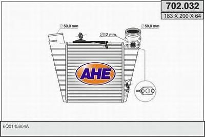 Intercooler  AHE 702.032 SEAT SKODA VW