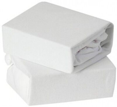 Baby Elegance Cot Fitted Jersey Sheets 2 Pack White