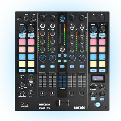 Mixars Quattro - Professional 4-Channel Mixer / Controller for Serato DJ