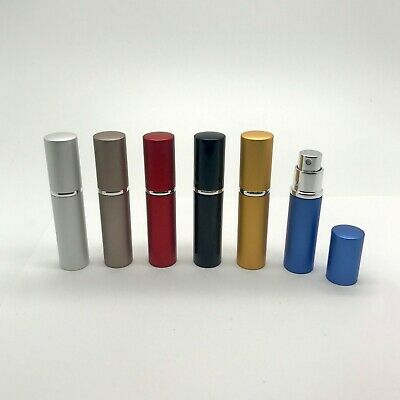 Empty 6ml Refillable Perfume Spray Aftershave Pump Atomizer Bottle Compact Metal
