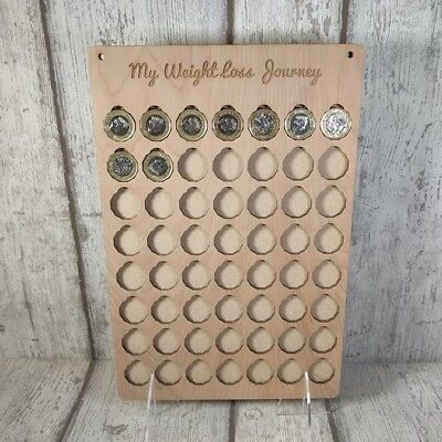 WEIGHT LOSS JOURNEY BOARD WOOD, SLIMMING WORLD, WEIGHT WATCHERS, £ for lb REWARD