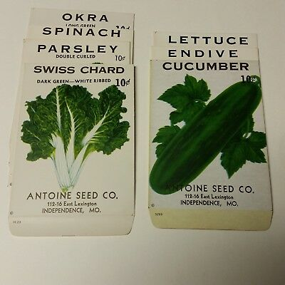 VIntage ca. 1950 unused vegetable seed packets from Blue Springs/Independence MO
