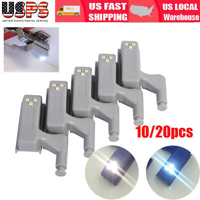 10Pcs LED Sensor Light Kitchen Cabinet Hinge Cupboard Closet Wardrobe Lights