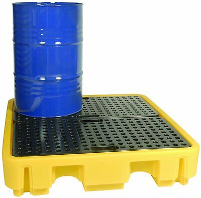 FOUR DRUM SPILL PALLET 250ltr with REMOVEABLE GRID