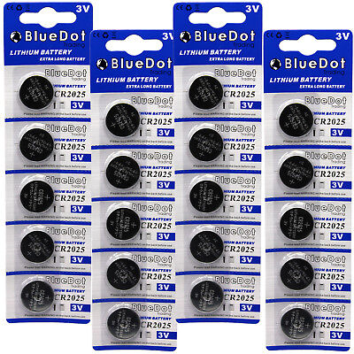 20 CR2025 CR 2025 DL2025 BR 2025 3 Volt Lithium Button Cell Battery USA US Ship