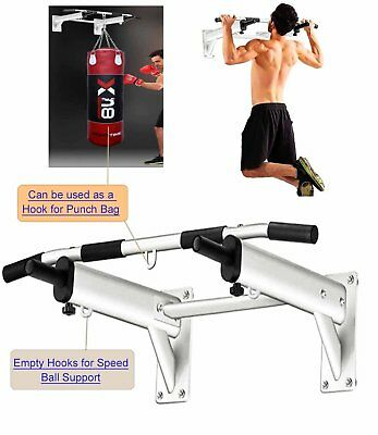 Pull Up Bar Wall Mounted Metal Chin Up Bar  Home Fitness Exercise Bracket