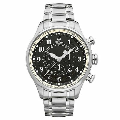 Bulova Adventurer Black Dial Silver-Tone Stainless Steel Men's Watch 96B138 S8