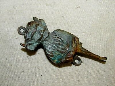 "Antique Brass Door Knocker Devil/Gargoyle/Pixie/Imp 3.5"" Gothic/Victorian J883"