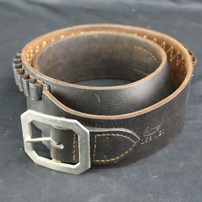 Vintage Leather Hunter 158 Ammo Belt Size Medium Holds 25 Rounds