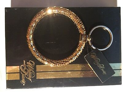 Vintage Whiting & Davis Gold Mesh Keychain New In Box