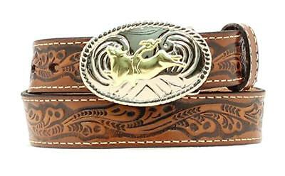 Nocona Western Boys Belt Kids Bull Rider Brown N4410402