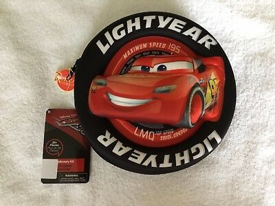 Disney Pixar Cars Lightning McQueen Stationary 3D Wheel Shape NEW WITH TAGS