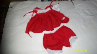 CABBAGE PATCH KIDS  DRESS w/bottoms red