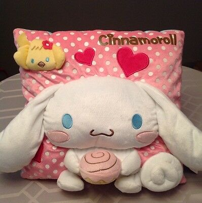 *BIG!* Cinnamoroll Pink PLUSH CUSHION. Long Ears Puppy Dog RARE Christmas