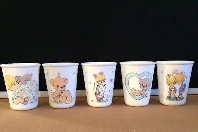 Precious Moments ~ 1999 Vintage Child's 7oz Drinking Tumbler Cups ~ Lot Of 5