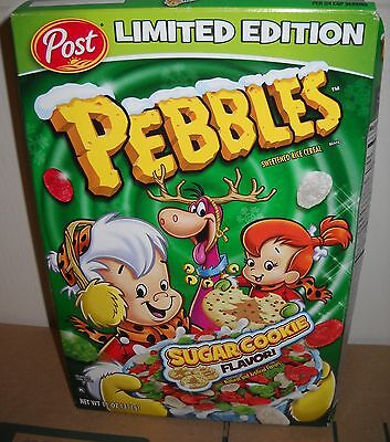 #9563 POST 2015 Pebbles Sugar Cookie Flavor Limited Ed Cereal FULL BOX EXPIRED