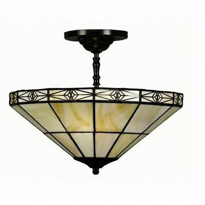 Hanging Ceiling Lamp Entry Hall Light Foyer Stained Glass Lighting Tiffany Style