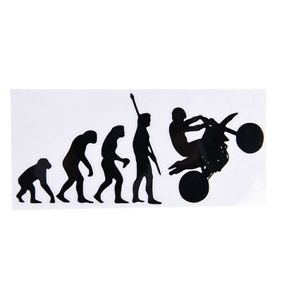 Human Evolution Motorcycle Car Stickers Personalized Vinyl Reflective Decals*-*