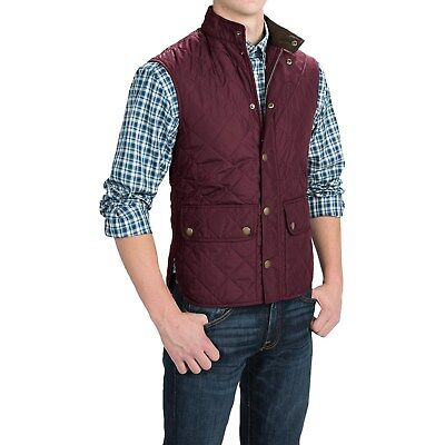 NEW mens XXL barbour lowerdale quilted vest merlot