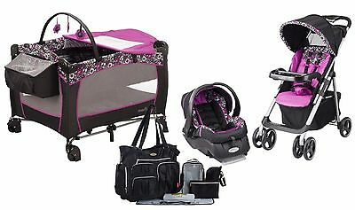 Evenflo Baby Stroller Car Seat Diaper Bag Playard Travel System New