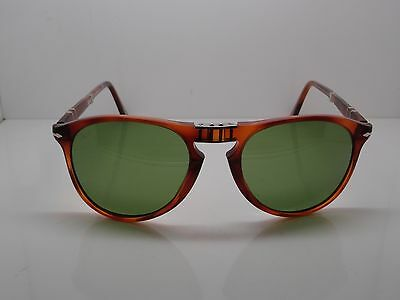 New Authentic PERSOL 9714-S 96/4E Terra di Siena Folding 55mm Sunglasses