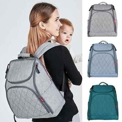 Mummy Dad Maternity Nappy Diaper Bag Nursing Large Capacity Travel Backpack