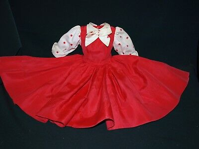 Vintage 1950s Madame Alexander Tagged CISSY gown Red with polkadot dress